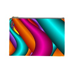 Fractal Wallpaper Color Pipes Cosmetic Bag (large)