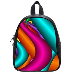 Fractal Wallpaper Color Pipes School Bags (small)