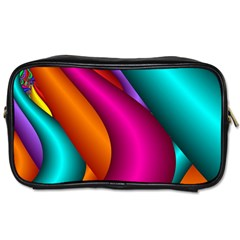 Fractal Wallpaper Color Pipes Toiletries Bags