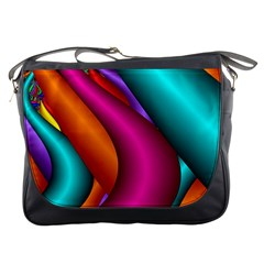 Fractal Wallpaper Color Pipes Messenger Bags