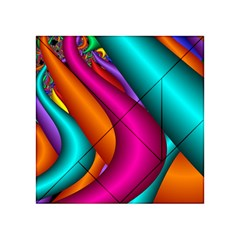 Fractal Wallpaper Color Pipes Acrylic Tangram Puzzle (4  X 4 )