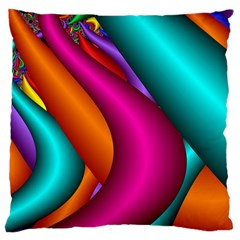 Fractal Wallpaper Color Pipes Large Cushion Case (two Sides)