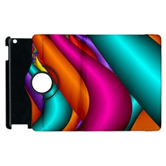 Fractal Wallpaper Color Pipes Apple Ipad 3/4 Flip 360 Case
