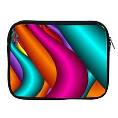 Fractal Wallpaper Color Pipes Apple Ipad 2/3/4 Zipper Cases