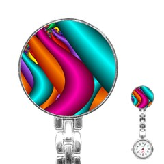 Fractal Wallpaper Color Pipes Stainless Steel Nurses Watch