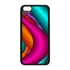 Fractal Wallpaper Color Pipes Apple Iphone 5c Seamless Case (black)