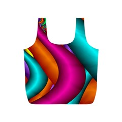 Fractal Wallpaper Color Pipes Full Print Recycle Bags (s)