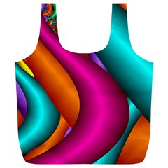 Fractal Wallpaper Color Pipes Full Print Recycle Bags (l)