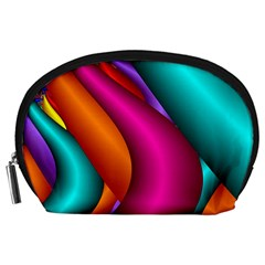 Fractal Wallpaper Color Pipes Accessory Pouches (large)