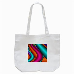 Fractal Wallpaper Color Pipes Tote Bag (White)