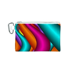 Fractal Wallpaper Color Pipes Canvas Cosmetic Bag (s)