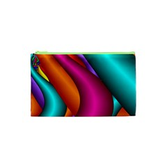 Fractal Wallpaper Color Pipes Cosmetic Bag (XS)