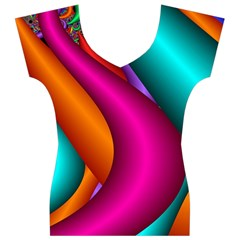Fractal Wallpaper Color Pipes Women s V-Neck Cap Sleeve Top