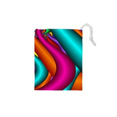 Fractal Wallpaper Color Pipes Drawstring Pouches (xs)