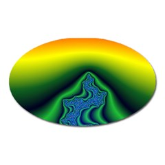 Fractal Wallpaper Water And Fire Oval Magnet