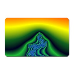 Fractal Wallpaper Water And Fire Magnet (rectangular)