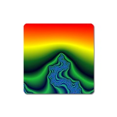 Fractal Wallpaper Water And Fire Square Magnet