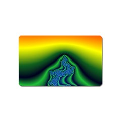 Fractal Wallpaper Water And Fire Magnet (Name Card)
