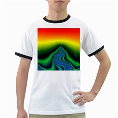Fractal Wallpaper Water And Fire Ringer T Shirts
