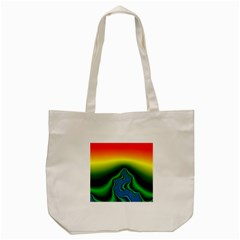 Fractal Wallpaper Water And Fire Tote Bag (cream)