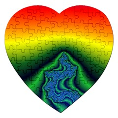 Fractal Wallpaper Water And Fire Jigsaw Puzzle (heart)