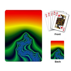 Fractal Wallpaper Water And Fire Playing Card