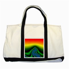 Fractal Wallpaper Water And Fire Two Tone Tote Bag