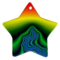 Fractal Wallpaper Water And Fire Star Ornament (Two Sides)