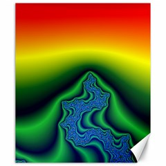 Fractal Wallpaper Water And Fire Canvas 20  X 24