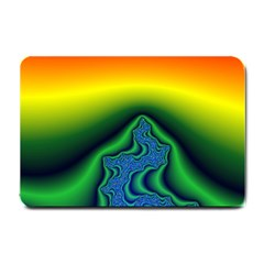 Fractal Wallpaper Water And Fire Small Doormat