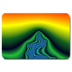 Fractal Wallpaper Water And Fire Large Doormat