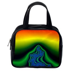 Fractal Wallpaper Water And Fire Classic Handbags (One Side)