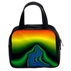 Fractal Wallpaper Water And Fire Classic Handbags (2 Sides)