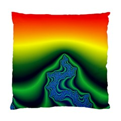 Fractal Wallpaper Water And Fire Standard Cushion Case (two Sides)