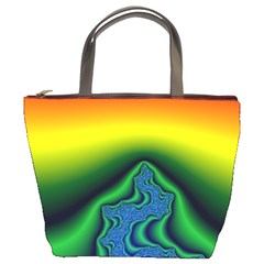 Fractal Wallpaper Water And Fire Bucket Bags