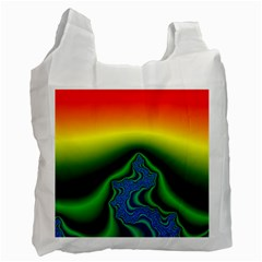 Fractal Wallpaper Water And Fire Recycle Bag (Two Side)