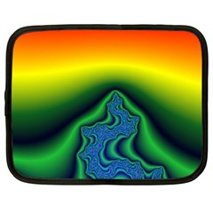 Fractal Wallpaper Water And Fire Netbook Case (xl)