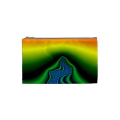 Fractal Wallpaper Water And Fire Cosmetic Bag (Small)