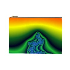 Fractal Wallpaper Water And Fire Cosmetic Bag (large)