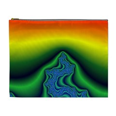 Fractal Wallpaper Water And Fire Cosmetic Bag (xl)