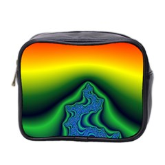 Fractal Wallpaper Water And Fire Mini Toiletries Bag 2-Side