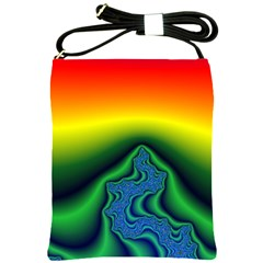Fractal Wallpaper Water And Fire Shoulder Sling Bags