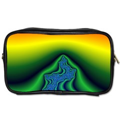 Fractal Wallpaper Water And Fire Toiletries Bags 2 Side