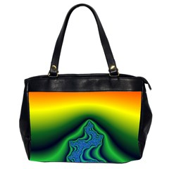 Fractal Wallpaper Water And Fire Office Handbags (2 Sides)