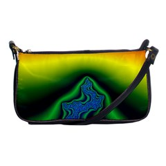 Fractal Wallpaper Water And Fire Shoulder Clutch Bags