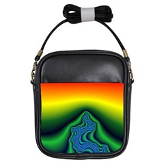 Fractal Wallpaper Water And Fire Girls Sling Bags
