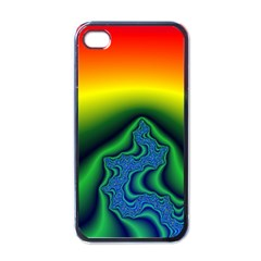 Fractal Wallpaper Water And Fire Apple iPhone 4 Case (Black)