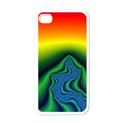Fractal Wallpaper Water And Fire Apple iPhone 4 Case (White)