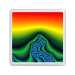 Fractal Wallpaper Water And Fire Memory Card Reader (square)
