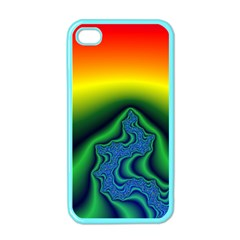 Fractal Wallpaper Water And Fire Apple iPhone 4 Case (Color)